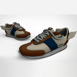 Messenger Sneakers Blue