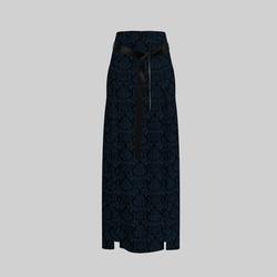 Skirt Briana Damask Blue & Black 2.0