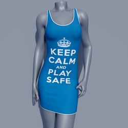 MPP - Keep Calm Dress - Play Safe - Blue
