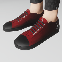 Women's retro shoes (red/black)