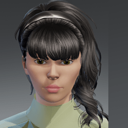 Hair Barbara Black