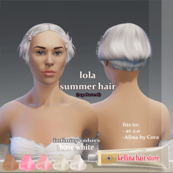 lola -summer hair (updated) fits to av 2.0  and Alina by Cora