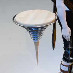 Floating Seat - Drop Point Wood, White and Rings (male)