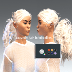 cassandra hair -collor picker