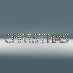 Christmas Marquee Blinking Sign