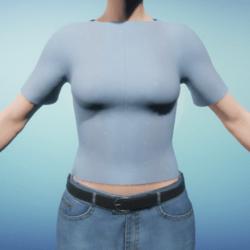 Light Blue Snowflake Women's T-Shirt
