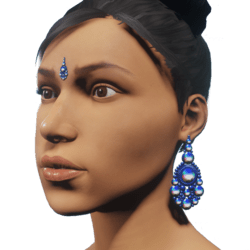 Bindi n Earrings Blue