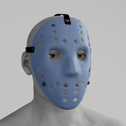 Hockey Mask Blue