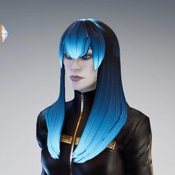 PM - Female Hair 09 - Glowing Scroller