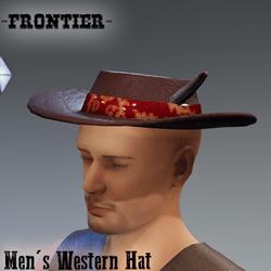 -Frontier- 1980s Western Hat
