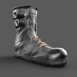 Shoes Boots Grunge Black Male