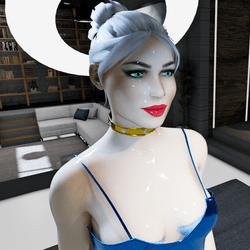 Female Summer Blue Eyes Avatar