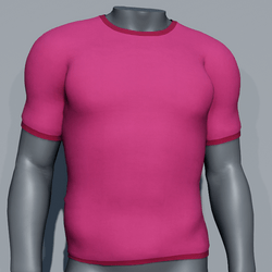 Men Plain TeeShirt - Pink