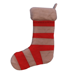 Red and White Christmas Sock
