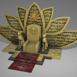Throne of the Egyptian cat