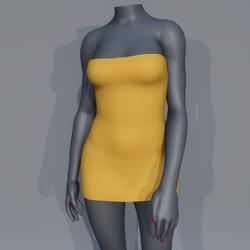 Very Short Sexy Mini Dress - Yellow
