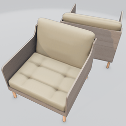Chronicle Lounge Chair Beige