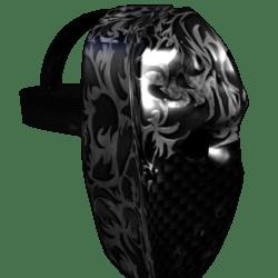 Black Carbon Fiber Battle Mask (Female)