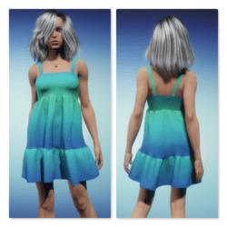 Sundress - Green Blue