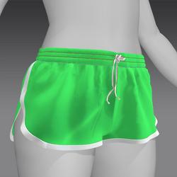 Short shorts Light green