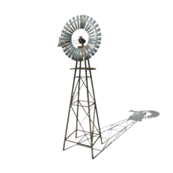 Wooden windmill [Animated]