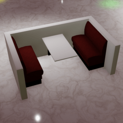 Restaurant/Club Seating Booth