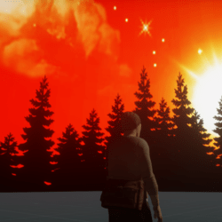 Skybox Sunset Forest A