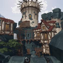 Sea Castle Environment Scene