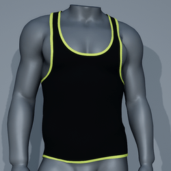 Sexy Men Tank - Black and Lime