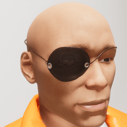 Pirate Jolly Roger Eye Patch - Male