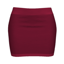 Woman Simple Skirt - Bordeaux