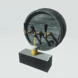 Beer Tap Half Barrel (animated)