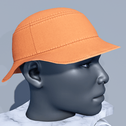 Men Bucket Sun Hat - Orange Tiger
