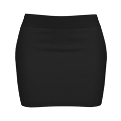 Woman Simple Skirt - Black