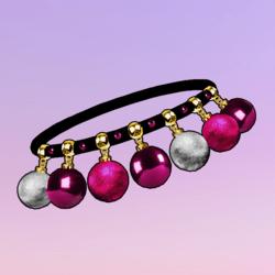Ornaments Choker Pink Silver