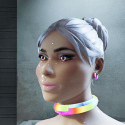 Female go-GLOW Animated Chocker