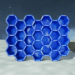 SPACE HIVE SHELFS-BLUE METAL