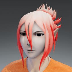 Mukuro hair pink orange