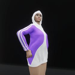 Hoodie Dress Purple (TM)