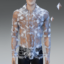 White Infinity See-Trough Shirt - Male