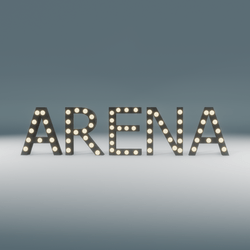 Arena Marquee Blinking Sign