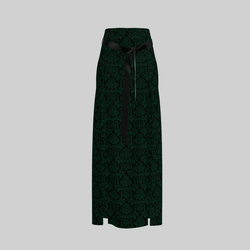 Skirt Briana Damask Green & Black 2.0