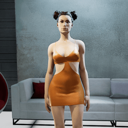 MIA mini dress mandarin