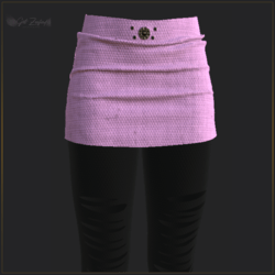 SKIRT WITH LEGGINGS PINK