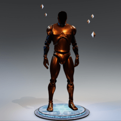 Avatars Mannequin Gold Male
