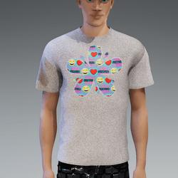 Male - I Love Sansar T-Shirt