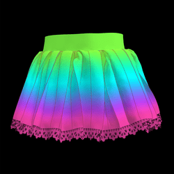 Kawaii Hyper Rainbow Skirt