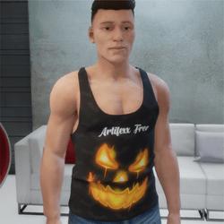 jack o lantern sleeveless shirt halloween