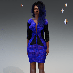 Blue Sexy Future Dress