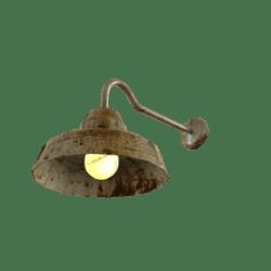 Rusty Barn Lamp